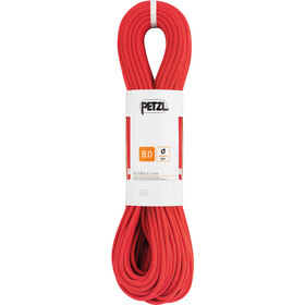 Petzl Rumba Touw 8mm x 60m, red